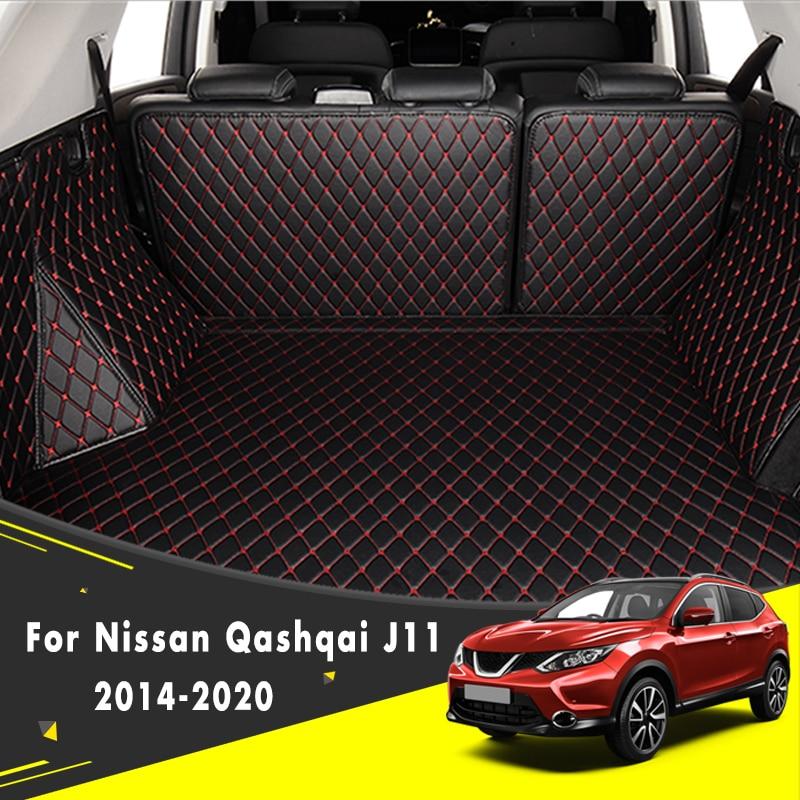 Para nissan qashqai j11 2020 2019 2018 2017 2016 2015 2014 carga do carro traseiro boot forro tronco tapetes tapetes interiores estilo