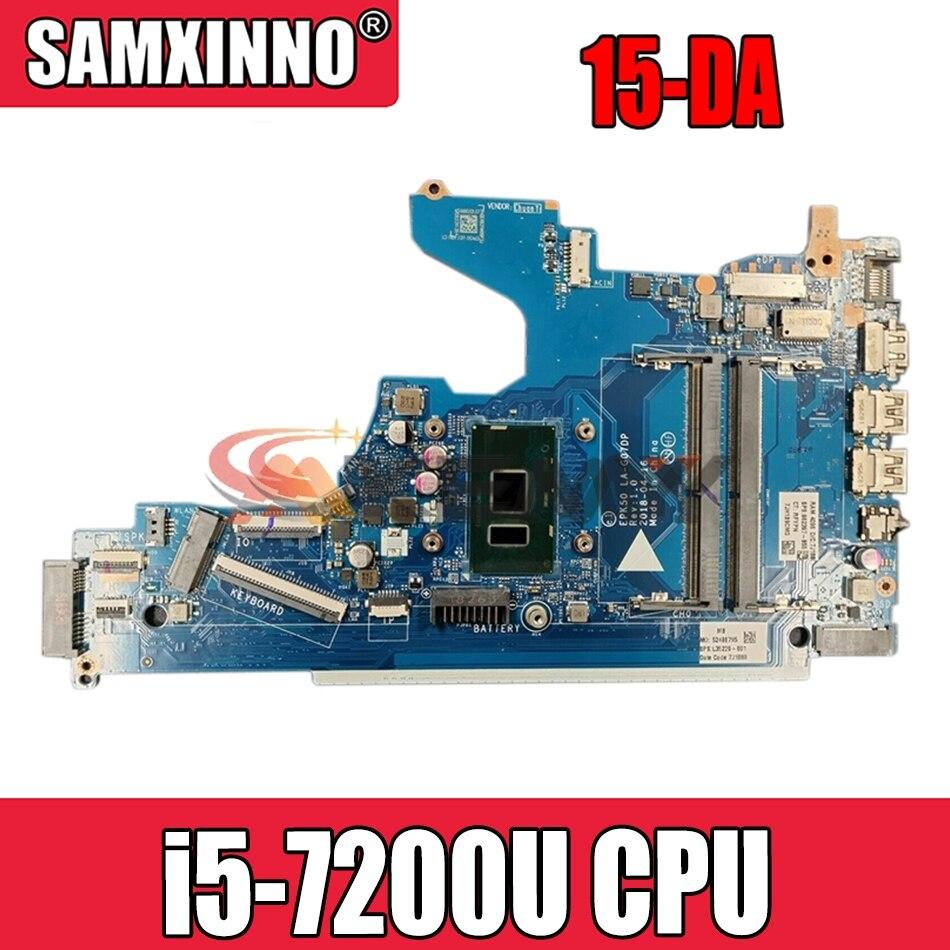 Akemy ل HP 15-DA سلسلة اللوحة المحمول مع SR342 i5-7200U CPU L36494-001 L36494-601 L36494-501 LA-G07DP 100% اختبار