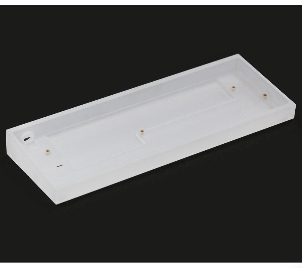 TOFU60-إطار أكريليك للوحة المفاتيح الميكانيكية gh60 ، KBDFANS ، التوفو 60% ، إضاءة شفافة