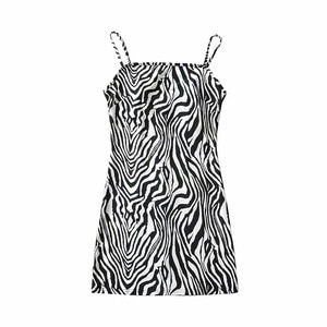 Sexy SpaghettiStrap Sleeveless Mini Cami Dress DLQZ617