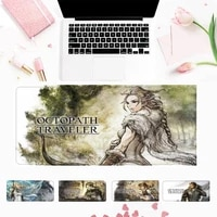 promotion octopath traveler mouse pad gaming mousepad large big mouse mat desktop mat computer mouse pad for overwatch