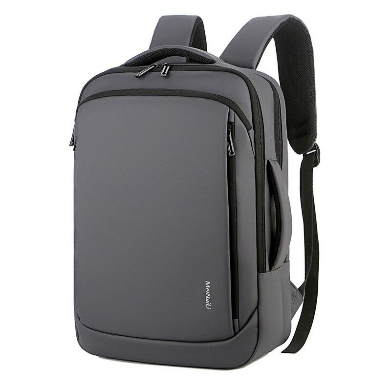 Mochila de negocios para ordenador portátil de 15,6 pulgadas, a prueba de agua, para hombre, mochila de viaje con carga USB, mochila para Notebook