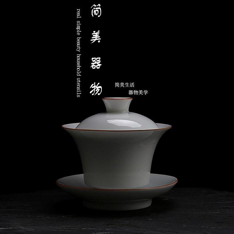 السيراميك gaiwan فنجان شاي اليدوية سلطانية الصينية الكونغ فو طقم شاي درينكوير