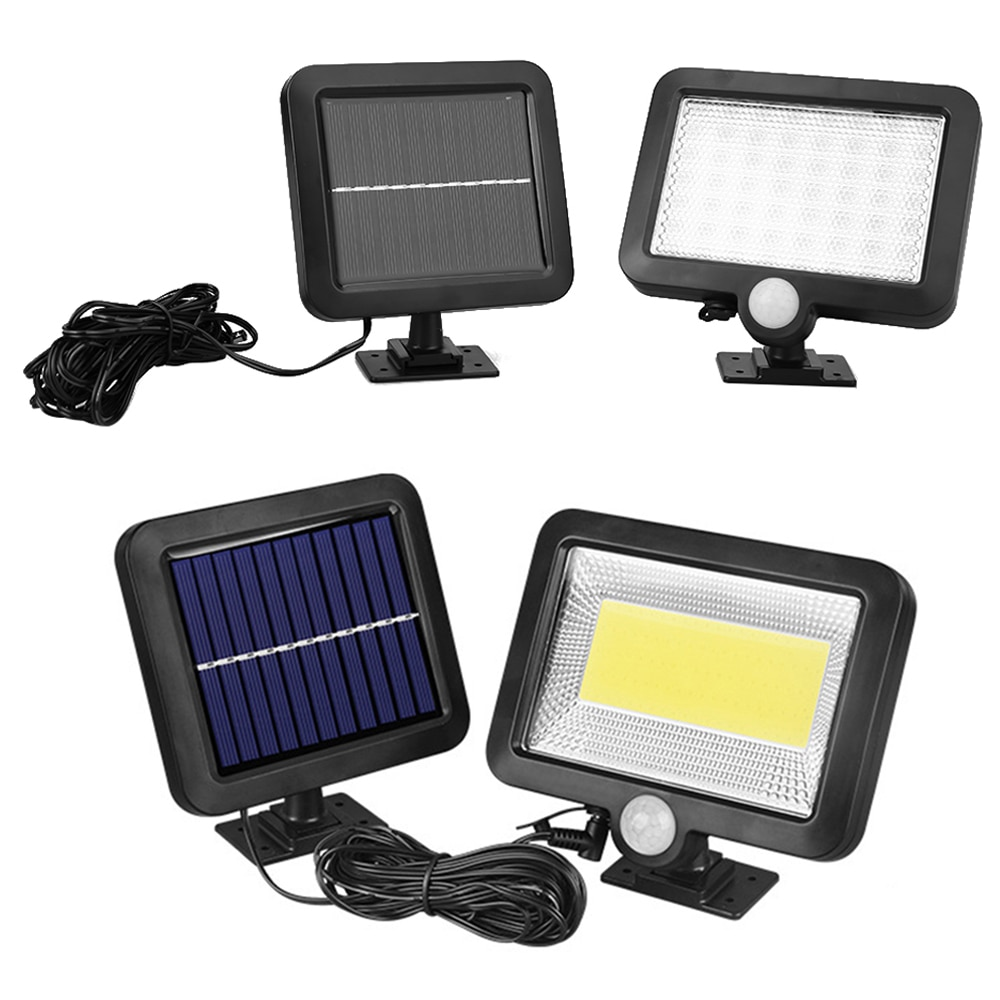 Luz Solar LED 100, iluminación exterior, reflector, decoración de emergencia, luz Solar para jardín, lámpara con Sensor de movimiento, lámpara de pared