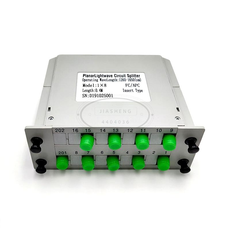 FC/fibra APC divisor óptico 1x8 divisor óptico PLC caja de Casette