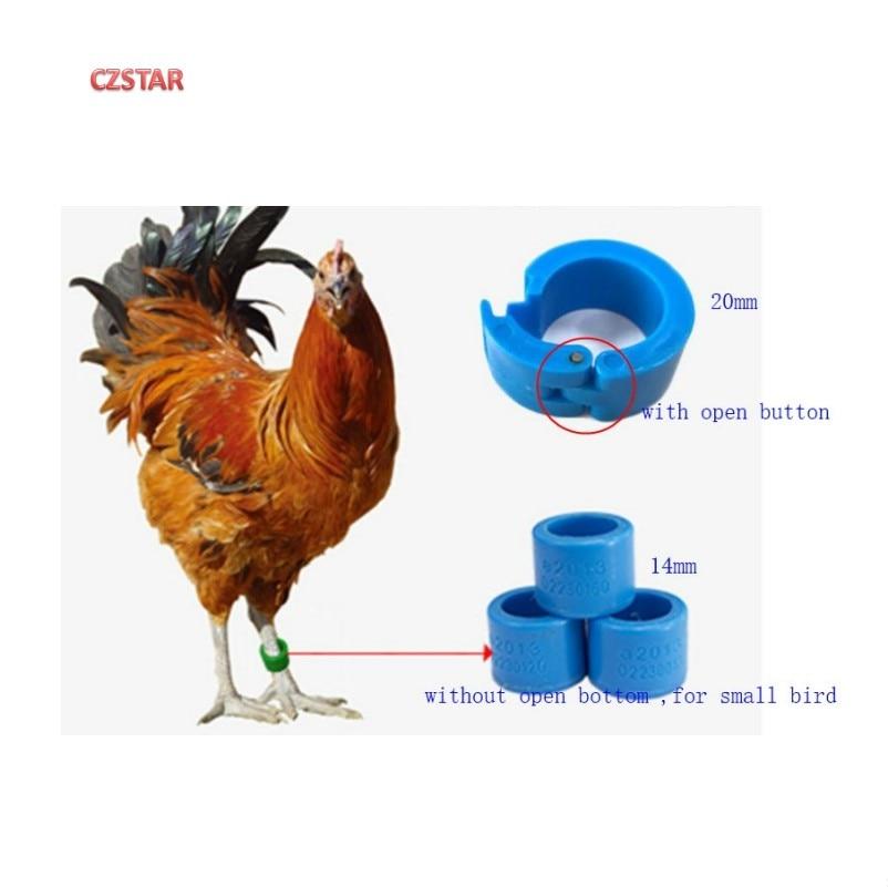 Iso18000-6c gen2 uhf حمامة حلقة البلاستيك الطيور الساق حلقة علامة الحيوان rfid حلقة لعلامة تتبع الدجاج خواتم حمامة الطيور