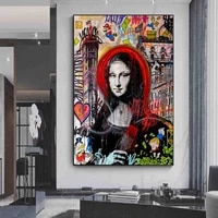 funny pictures street art mona lisa posters and prints for bedroom frameless modern fashion paintings for interior wall decor
