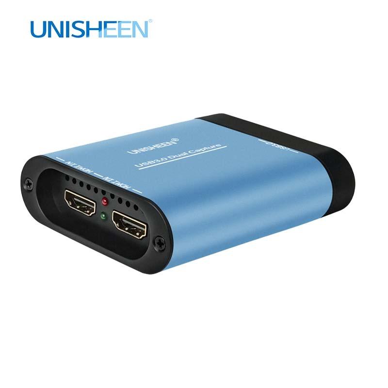 جهاز تسجيل فيديو من USB مزدوج SDI HDMI جهاز التقاط فيديو جهاز دونغل لعبة بث مباشر 1080P OBS vMix Wirecast xسبليت