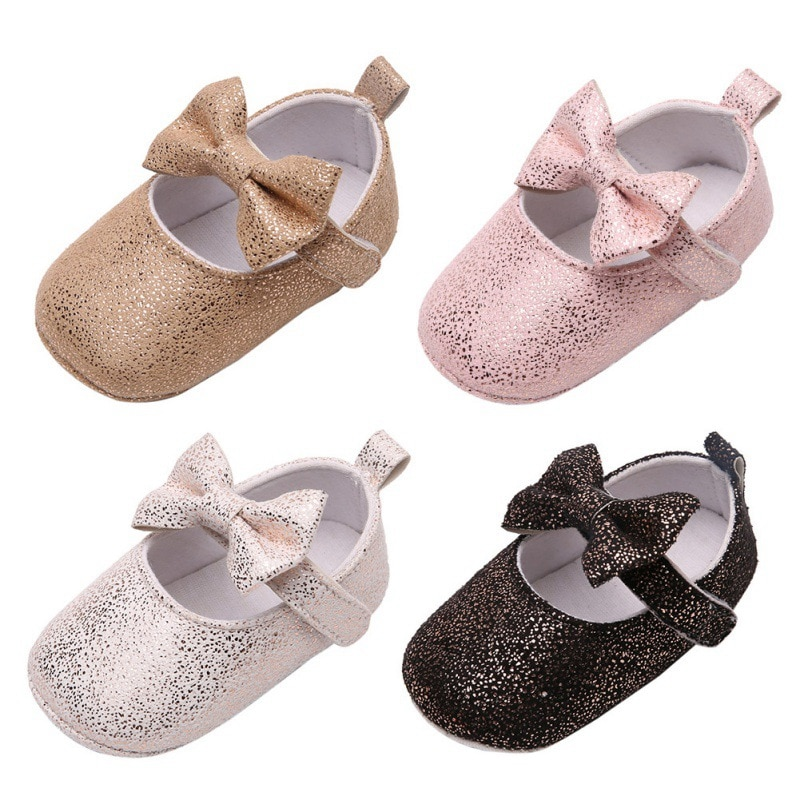 Infant Anit-slip Breathable Baby Shoes Sweet Bow Princess Shoes Baby Girl Shallow Shoes Baby First W