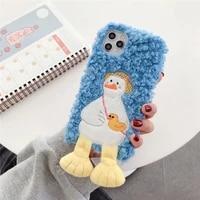 for samsung galaxy a12 a42 5g m21 m31 m51 a21s a30s a01 a11 a21 a31 a41 a51 a71 a10 a40 a50 a70 a90 fashion blue duck plush case