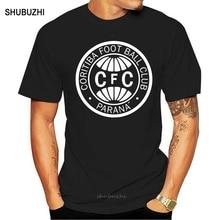 Corners piłka nożna klub Curitiba Parana Coxa brazylia piłka nożna Camisa t shirt tee mężczyźni bawełniana koszulka lato marka teeshirt euro rozmiar