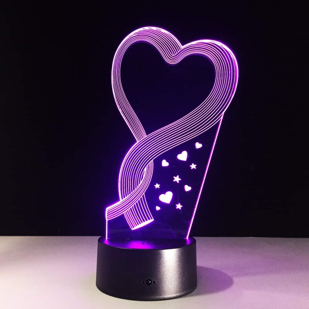 Animal Unicorn Goose Love Rose 3D Lamp Illusion Night Light LED RGB Bulb Multicolor Gift Kid Toy Holiday Nightligts Party Decor enlarge