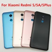 Per Xiaomi Redmi 5 5A 5 Più Della Batteria Dellalloggiamento Caso Della Copertura Posteriore con Tasto Del Volume di Potere per Xiaomi Redmi 5 più di 5 5A Cassa di Batteria