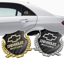 Emblème de fenêtre   Autocollant en Fiber de carbone métallique pour Chevrolet Cruze Aveo Captiva Lacetti Niva Orlando Epica Camaro Spark ax Badge