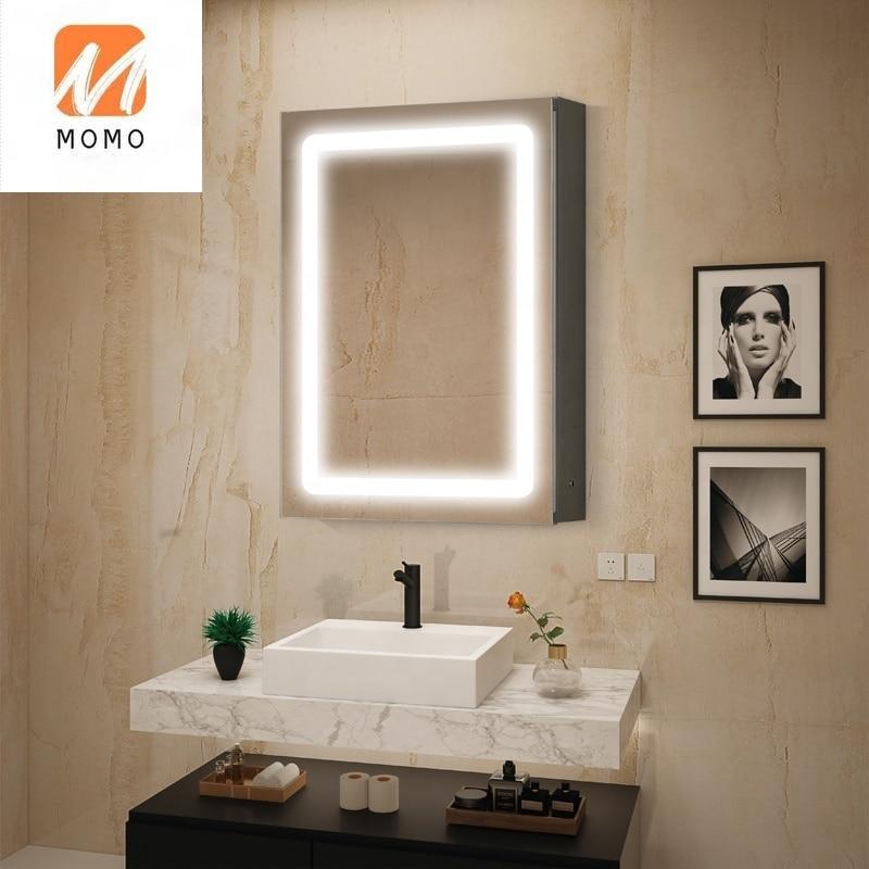 مرآة خزانة حمام مع الضوء