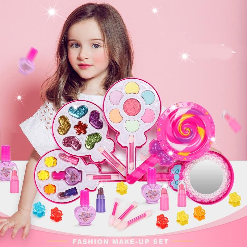 Детский набор игрушек для макияжа, ролевые игры, принцесса, розовый макияж, красота, безопасность, нетоксичный комплект, игрушки для девочек...