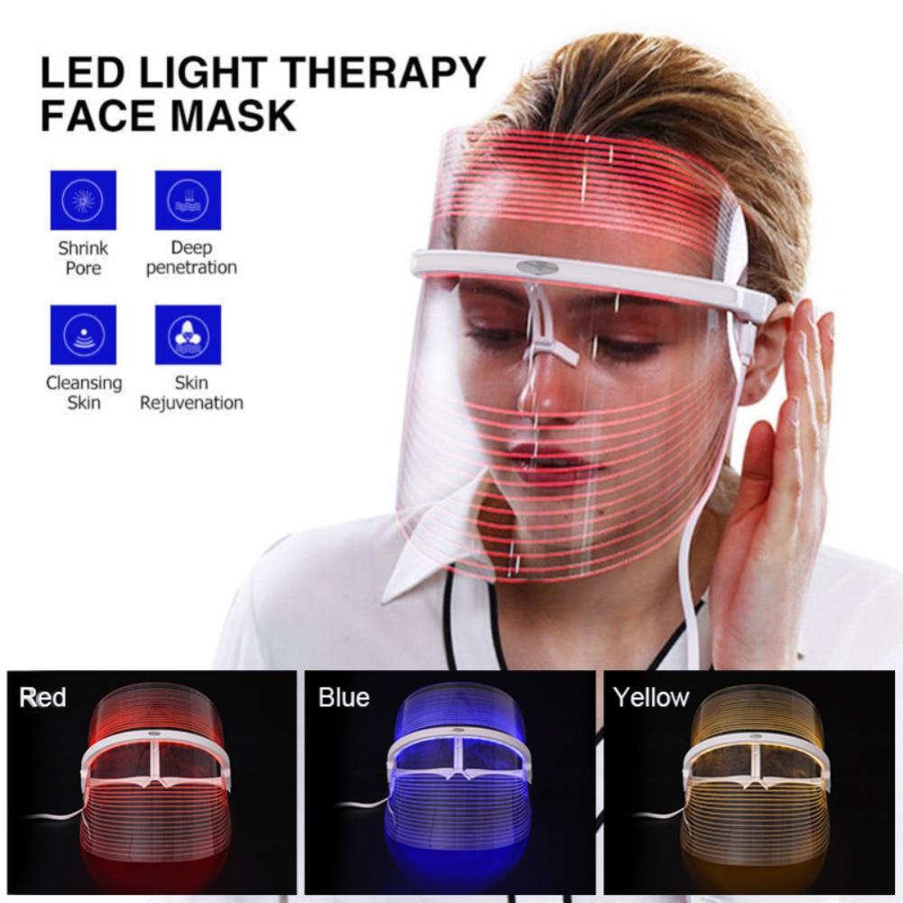 620nm-750nm terapia de luz vermelha fóton led máscara facial anti rugas facial spa rosto máquina beleza instrumento rosto cuidados com a pele ferramentas