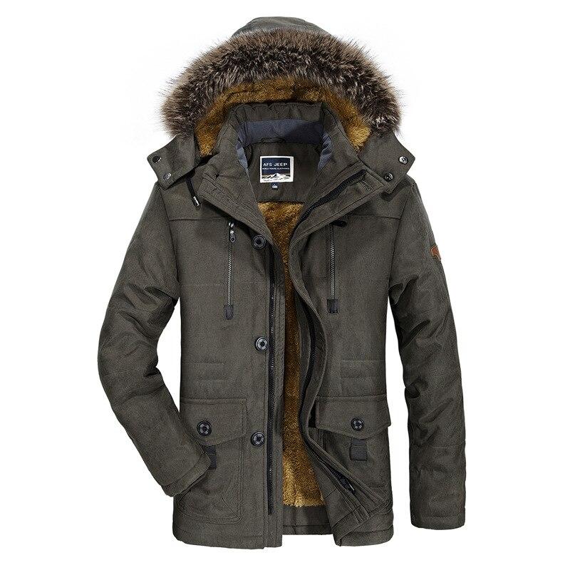 Мужская зимняя куртка с дополнительным флисом, очень толстая, дополнительного размера, пальто средней длины, приталенная шляпа, съемная пов...