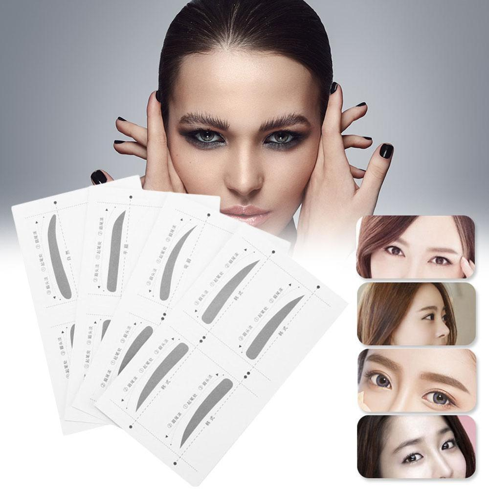 Pegatina para cejas, Kit de aseo, herramientas de maquillaje de belleza, plantilla moldeadora de dibujo de cejas