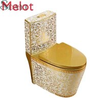 ceramic bathroom golden color toilet bowl wc toilet gold