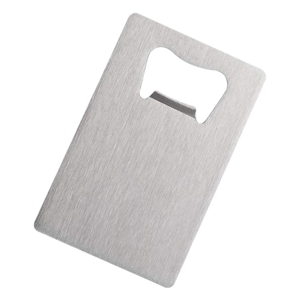 Abrebotellas de tarjeta de crédito para su cartera, Abrebotellas de acero inoxidable,...
