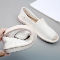 2021 new linen flat shoes women lightweight breathable fisherman shoes ladies soft casual leisure shoes slip on lazy loafers