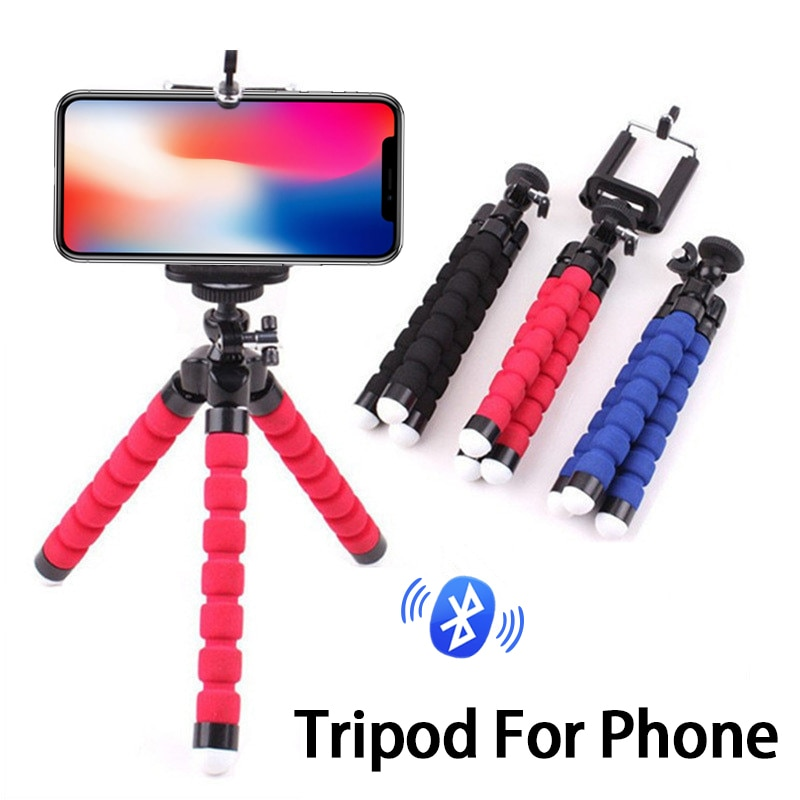 Portable Phone Flexible Tripod for iPhone Samsung Xiaomi Huawei Smartphone Stand Holder Remote Control Mobile Accessories
