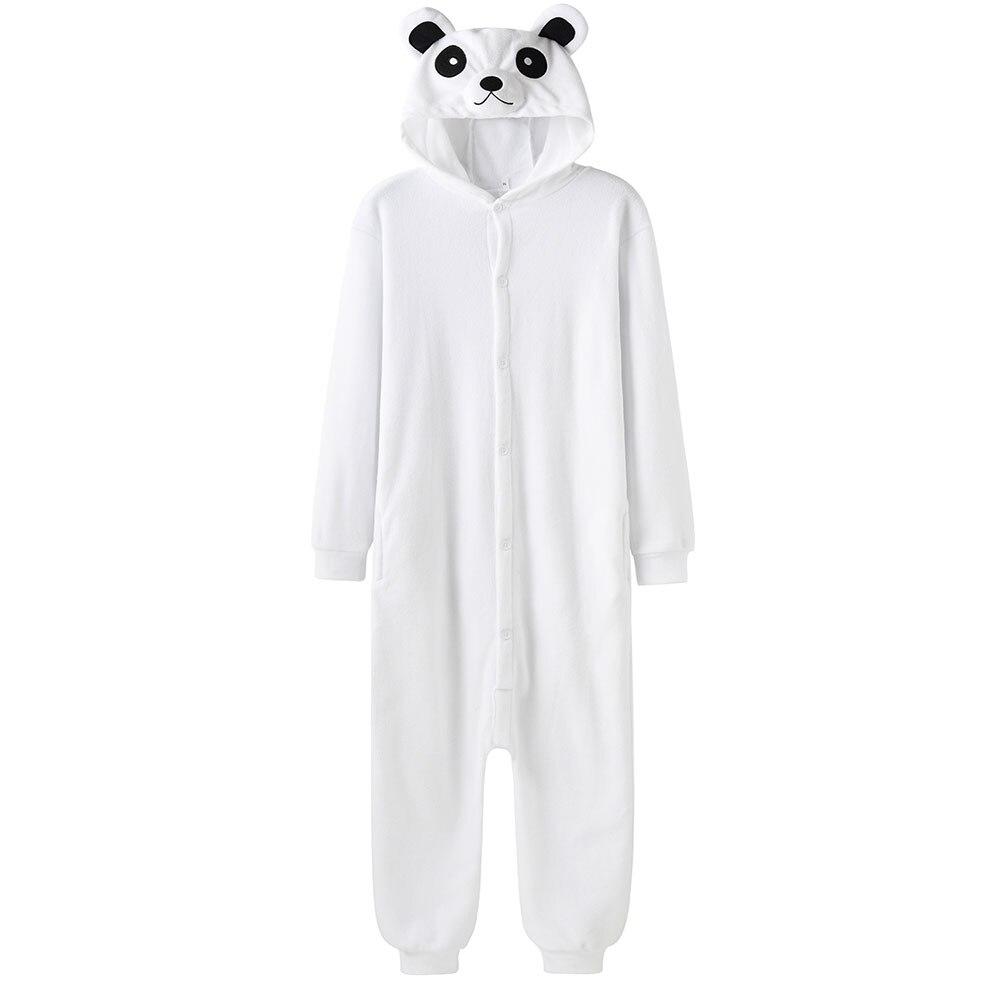 بدلة النوم البيضاء نيسيي الحيوان Kigurumis للجنسين لطيف مهرجان هدية الباندا منامة النساء الرجال الدافئة ملابس النوم المنزل وزرة