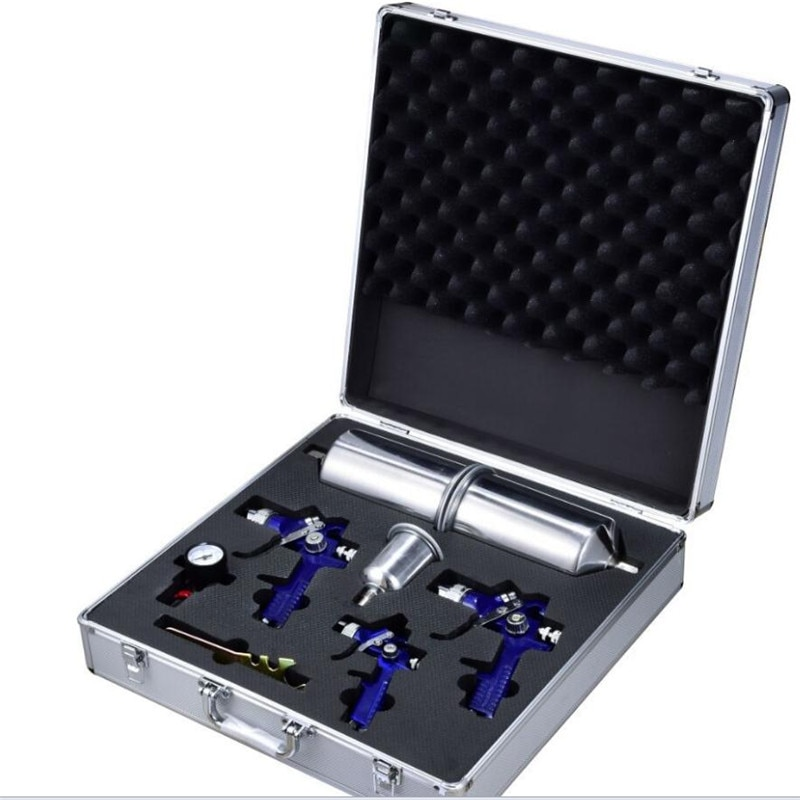Nouvelle protection de lenvironnement H827 + H2000 pistolet en aluminium coffret boîte à outils 2 ensemble pistolet