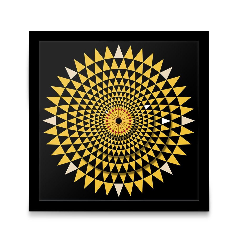 Reloj de pared con diseño abstracto moderno con diseño de planta sin tictac y diseño geométrico de girasol, reloj de pared colgante con Mandala Floral para decoración del hogar