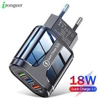 Сетевое зарядное устройство, 3 USB-порта, быстрая зарядка 3,0 4,0, для iPhone 12 pro, 11Max, Xiaomi, Samsung, Huawei