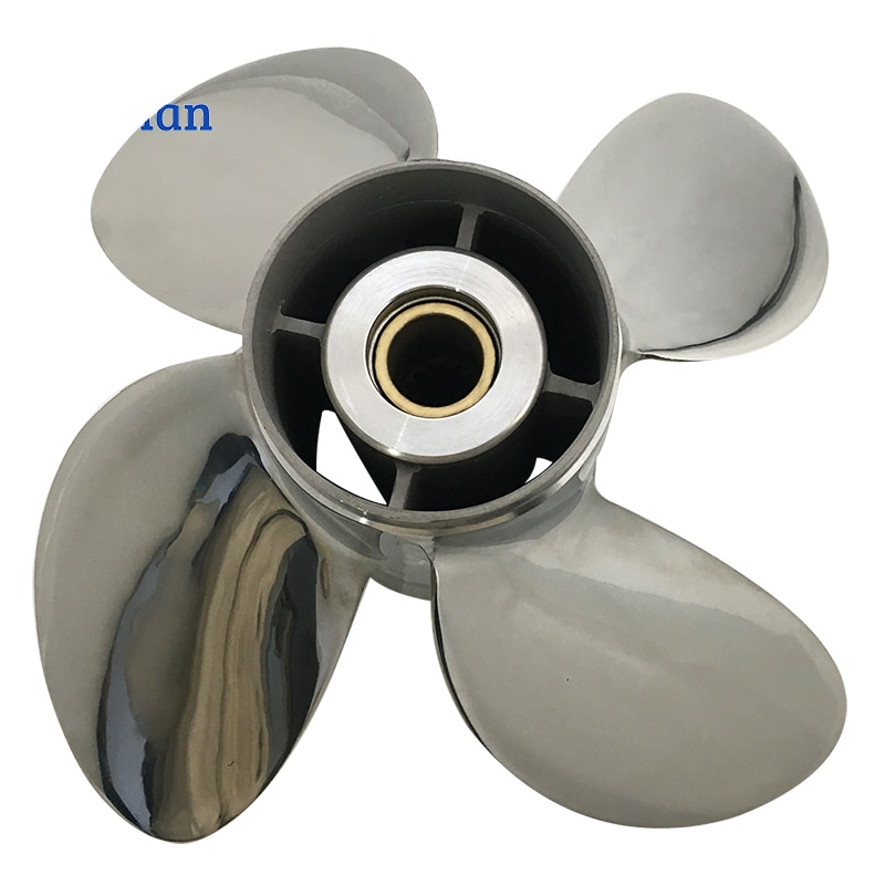 Outboard Propeller 13x19 For Suzuki Engine 50-140 HP Stainless Steel 15 Tooth splines Outlet Boat Parts 4 Blade enlarge