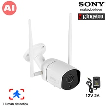 5MP/4MP 36pcs a infrarossi H.265X ICsee 25fps 128G ONVIF IP66 telecamera esterna Wireless a due Audio per rilevamento umano IP WIFI