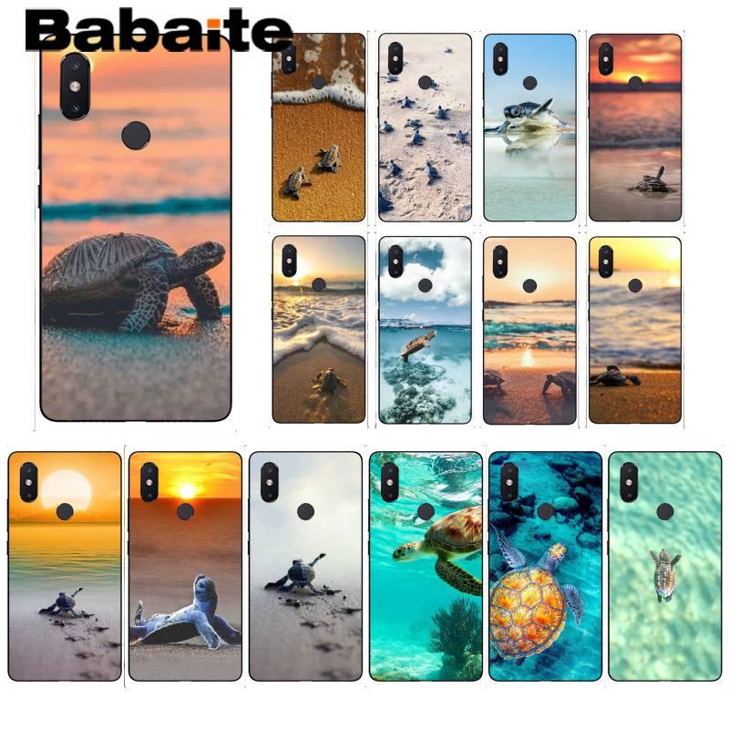 Babaite, tortuga marina para bebé, bonito animal, increíble funda suave para teléfono xiaomi6 MIX2 note 3 redmiK20 7 xiaomi8SE redminote4 note5 5A