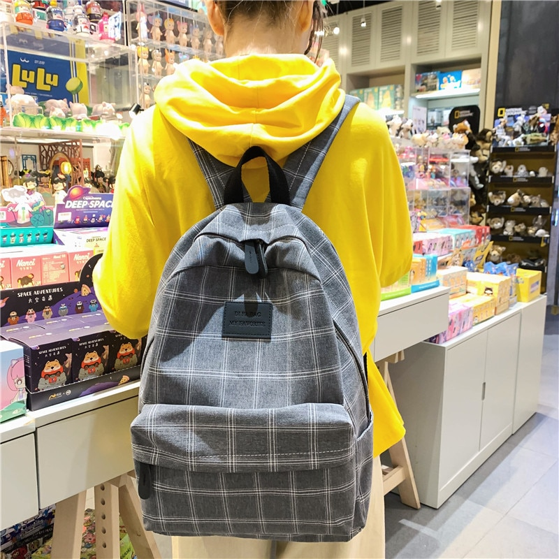 Modna djevojka koledž školska torba povremeni novi jednostavni - Ruksaci - Foto 4