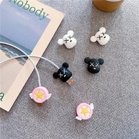 cartoon cable protector cute organizer holder data line cord protective cable winder cover for iphone charging cord