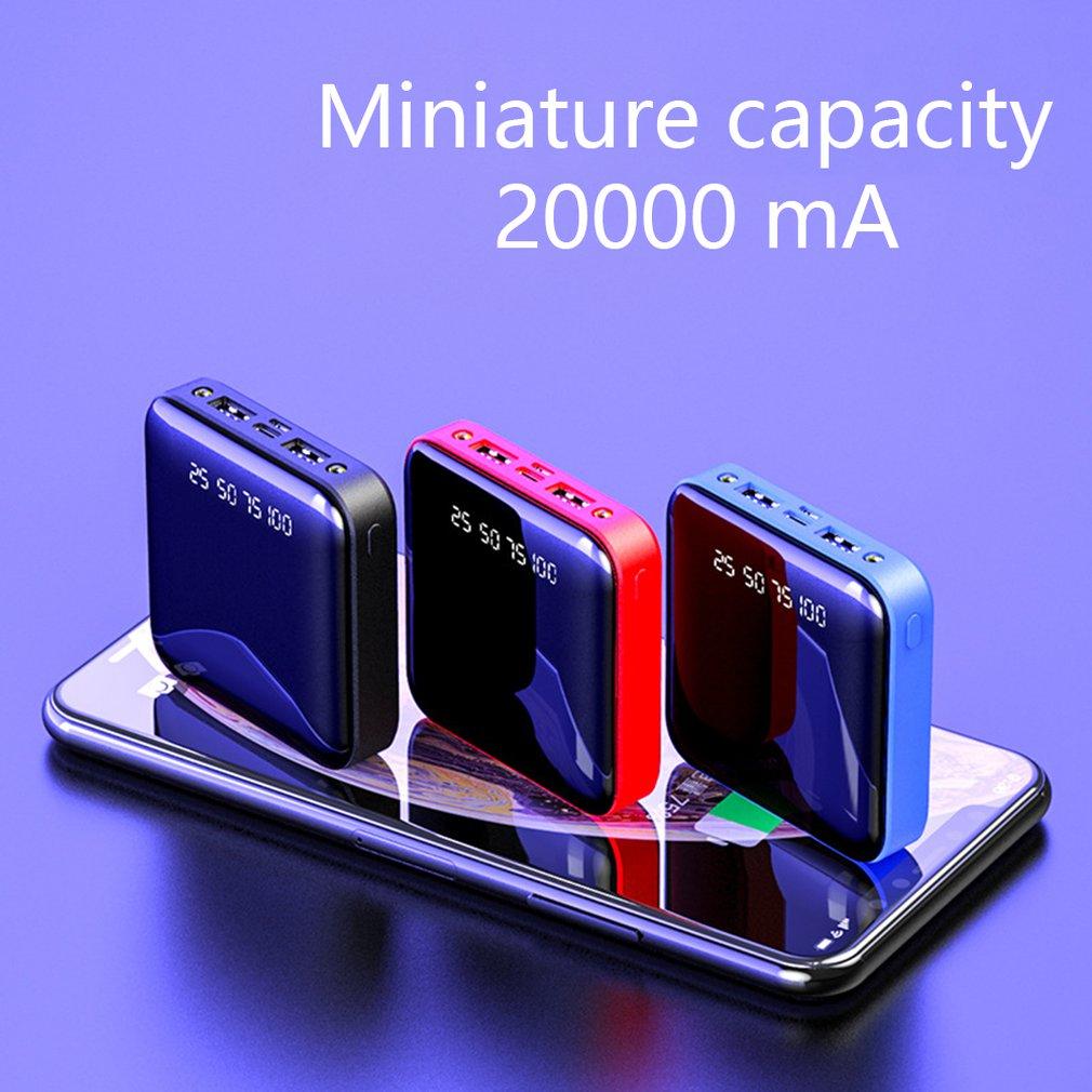 Mini móvil 20000 Digital pantalla espejo teléfono móvil Universal carga tesoro profesional moda portátil