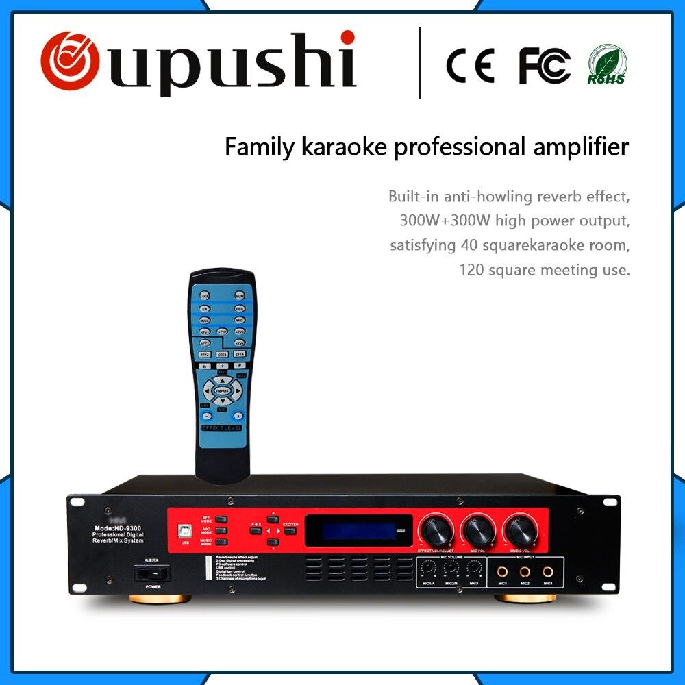 Hivi HD-9300 amplificateur karaoké famille KTV amplificateur professionnel effet réverbération anti-hurlements