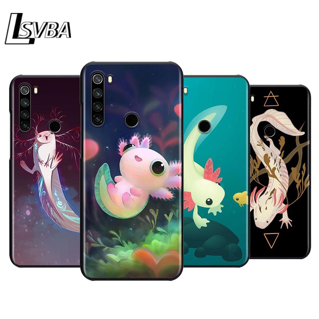 Animal lindo Axolotl funda de silicona de teléfono para Xiaomi Redmi Note 9 9 Max 8T 8 7 6 5 Pro 5A 4X 4 cubierta blanda de color negro
