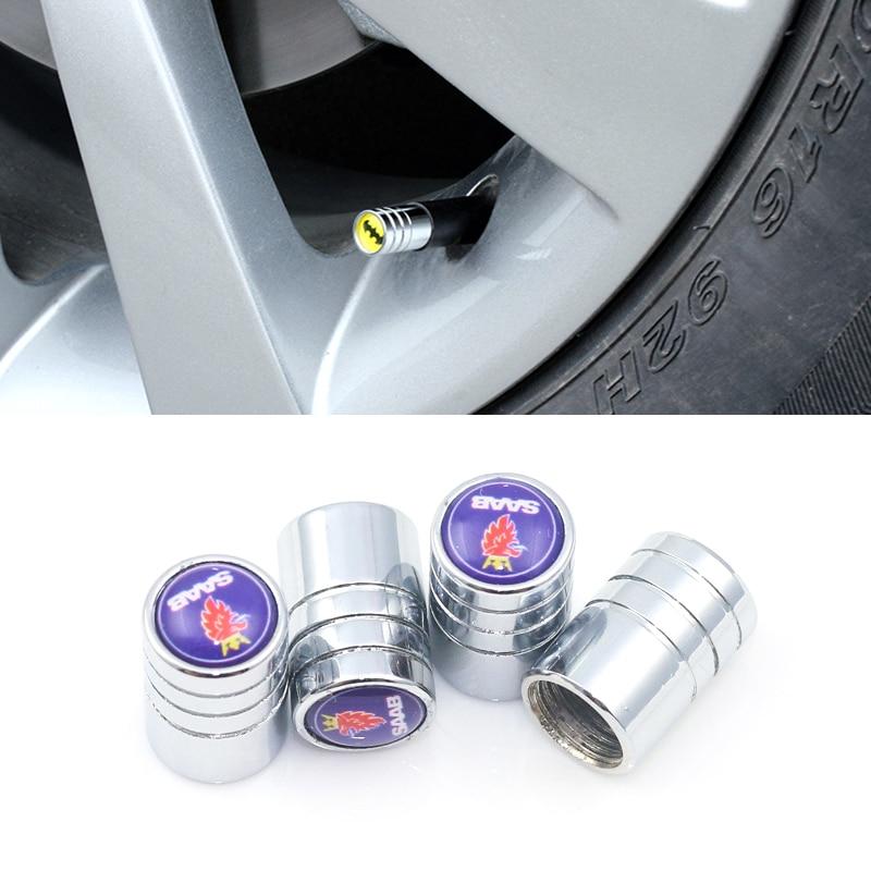 Redondo tapa de válvula de neumático de coche de neumático de la rueda de tapa de válvula de aire para Scania SAAB Aero X 9-3 9-5 9-7X 9-X 9-3X 900, 9000 y 600 99 97X coche-estilo