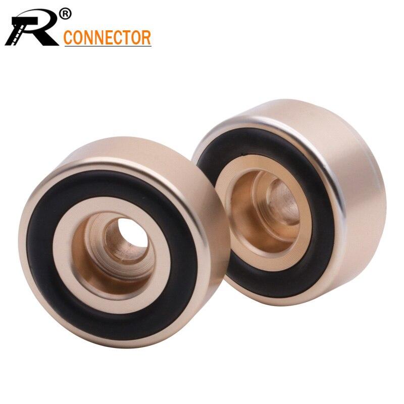 Altavoz amplificador de pie de aluminio macizo mecanizado CNC de 20x10mm 4 Uds., soportes para aislamiento Base DAC, tocadiscos reproductor de CD Mat