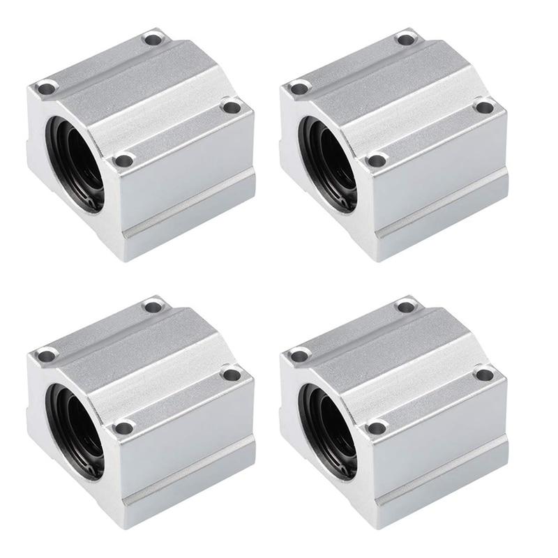 4 قطعة رولمان بلي خطي الحركة الشريحة كتلة جلبة SCS20UU عمود خطي CNC 3D طابعة أجزاء