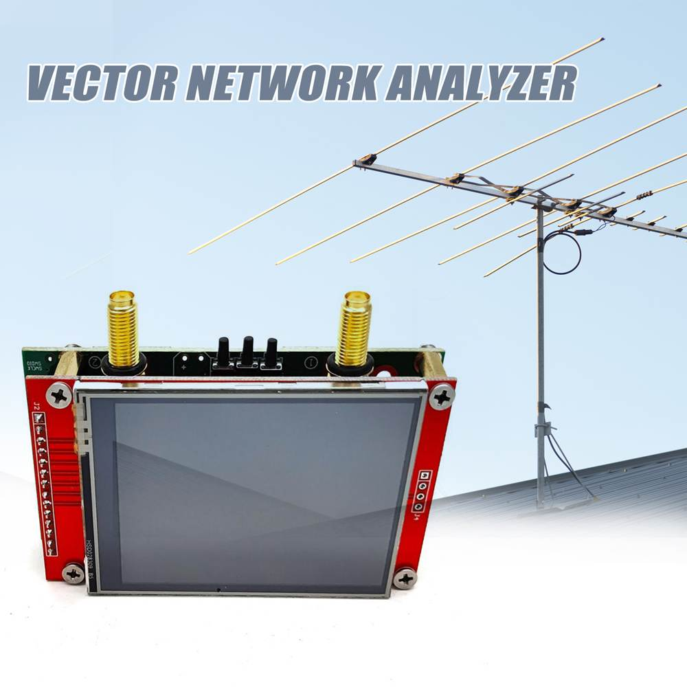 V2 3G NANoVna 50KHz-3GHz ناقلات شبكة محلل LCD لمس شاشة اختبار هوائي الموجات القصيرة S-A-A-2 HF VHF UHF كابل المقتفي
