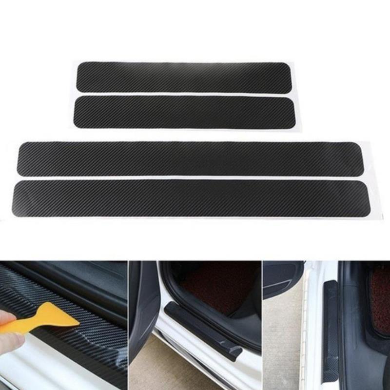 4Pcs Car Door Sill Protector Door Sill Scuff Plate Stickers For Renault Koleos Clio Scenic Megane Duster Sandero Captur Twingo