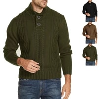 2021 new men turtleneck sweater knitwear solid color warm soft thick coats autumn winter male pullovers leisure jumpers tops