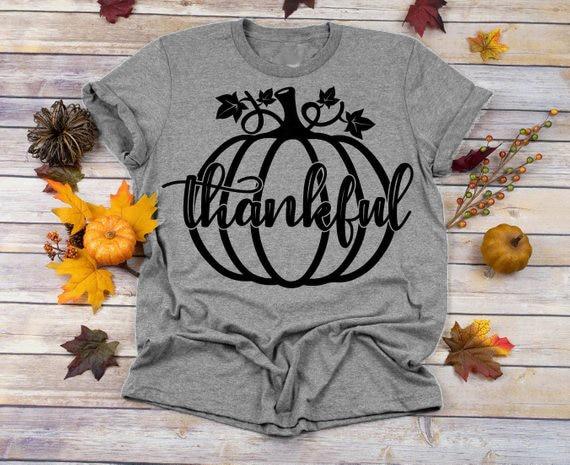 Kürbis Dankbar t-shirt Halloween Erntedank big grafik festival party tees kawaii vintage t-shirt blatt geschenk goth tops- K390