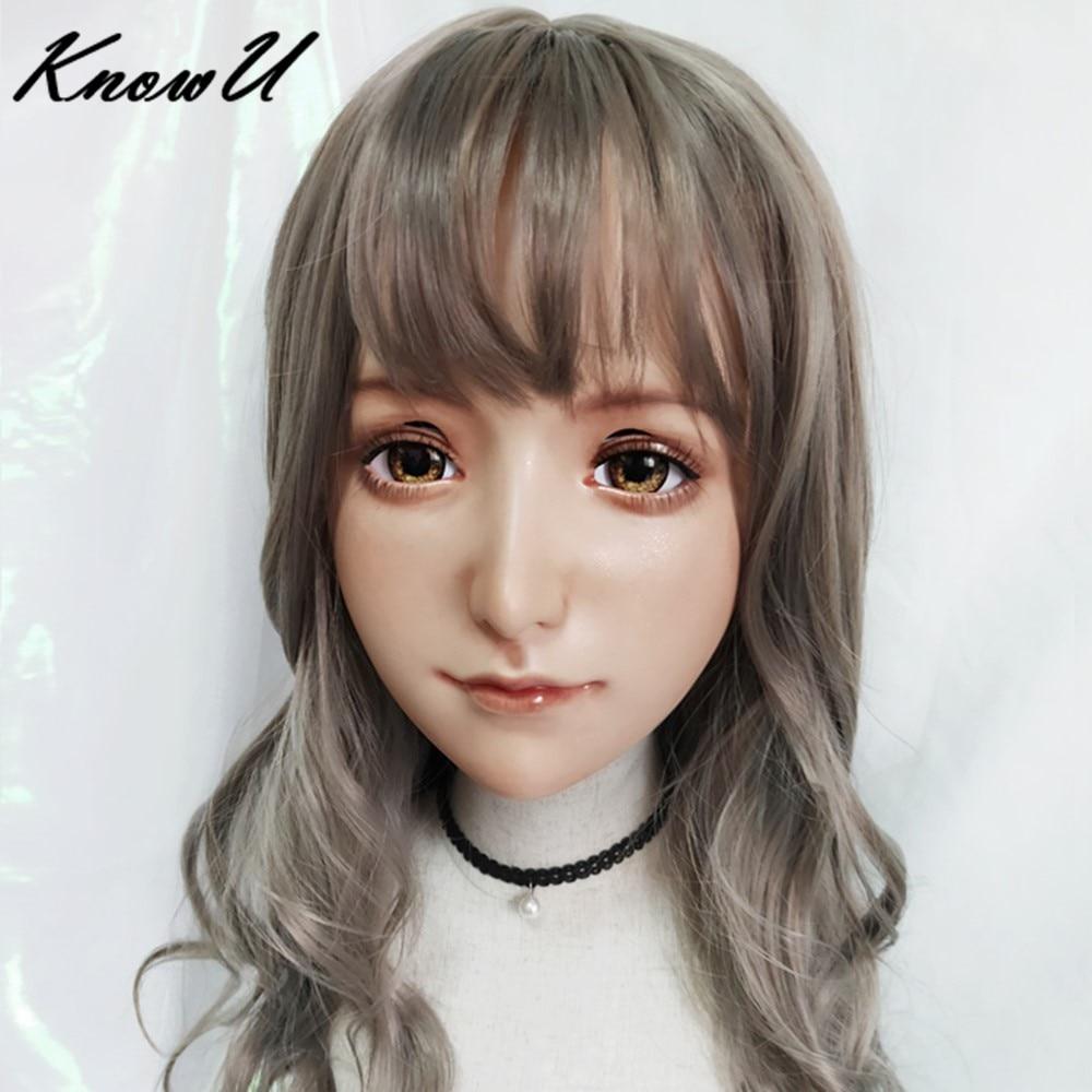 KnowU Kigurumimask maquillaje permanente Anime sombreros travestido Cosplay Crossdress muñeca BJD