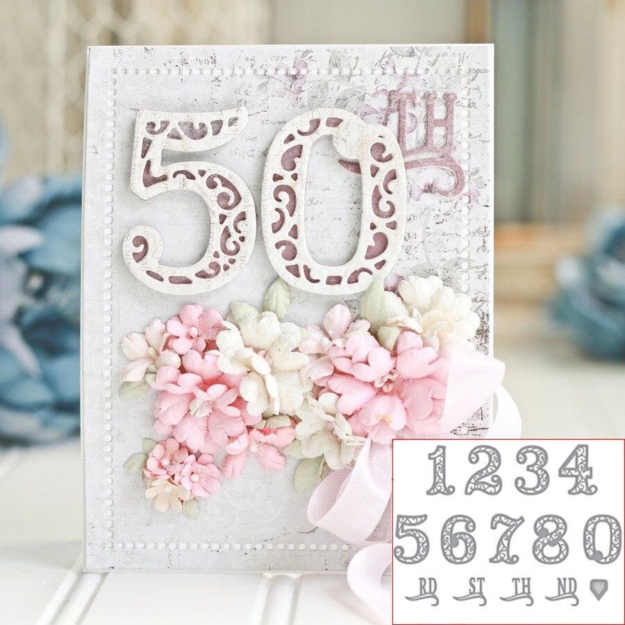 Цифры 0-9 металлические режущие штампы для DIY бумажная карточка для скрапбукинга декор трафареты мастерство штампы