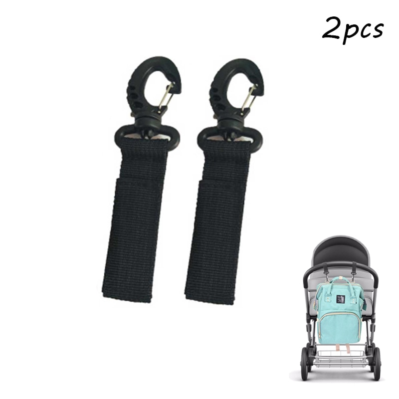 2 unids/lote cochecito gancho silla de ruedas cochecito para niños bolsa de suspensión de gancho de 360 grado rotar carro gancho accesorios para cochecito