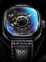 GLENAW 2019 Top Brand Luxury Men\'s Watch 30m Waterproof Date Clock Square Man Mechanical Watch Military Wristwatch Relogio